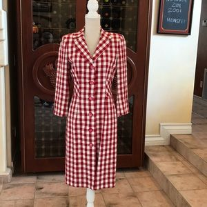 Moschino Red Check Dress